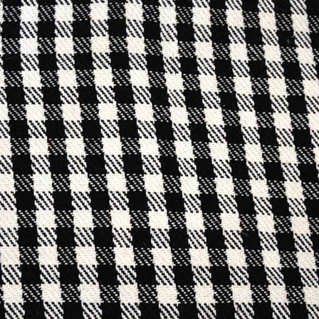 Black and White Checks Pattern Cotton Jacquard Fabric-31015