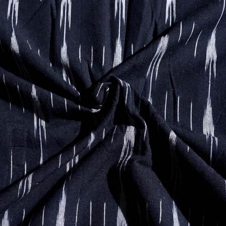 Black and White Lining Pattern Ikat Fabric-5683