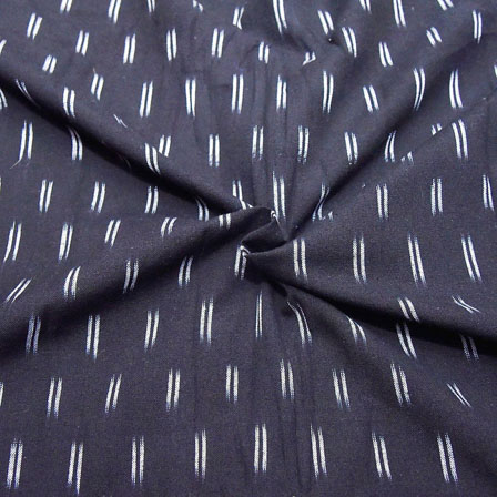 Black and White Small Lining Pattern Ikat Fabric-12041