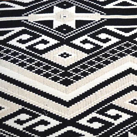 Black and White Square Design Cotton Jacquard Fabric-31013