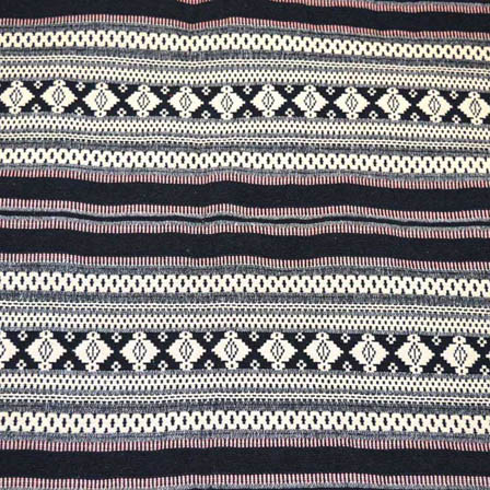Black and White Square Shape Cotton Jacquard Fabric-31029