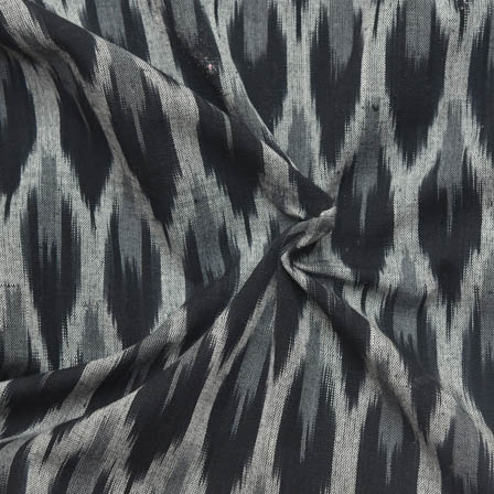 Black and White Unique Pattern Ikat Fabric-12024