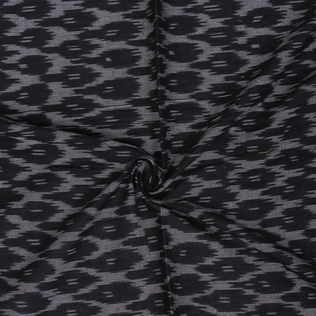 Black and White Unique Pattern Ikat Fabric-12062