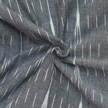 Black and White Unique Shape Ikat Fabric-12025