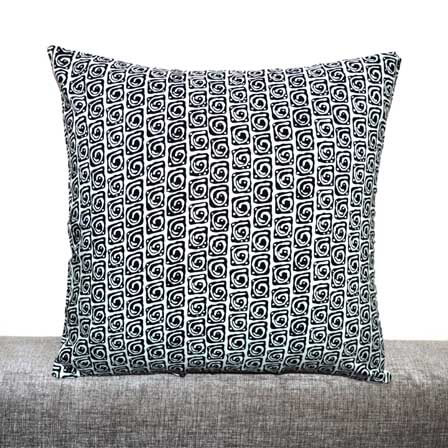 Black and White Unique pattern Cotton Cushion Cover