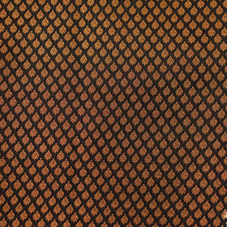Black and golden brocade tiny flower silk brocade fabric-4696