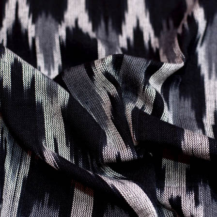 Black-white and Grey ikat fabric-5090