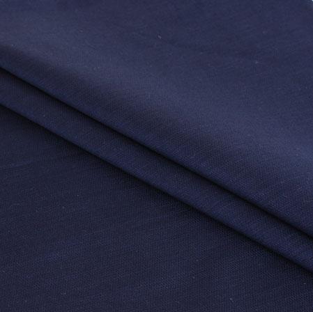 Blue Plain Handloom Cotton Fabric-40947