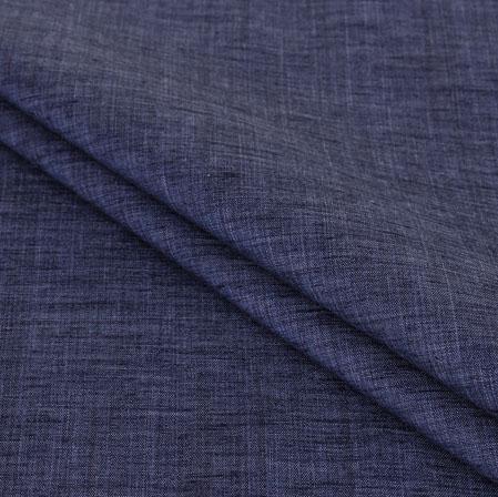 Blue Plain Handloom Cotton Fabric-40976
