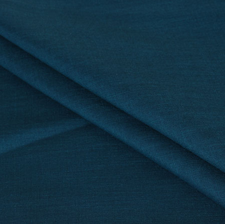 Blue Plain Handloom Cotton Fabric-40982