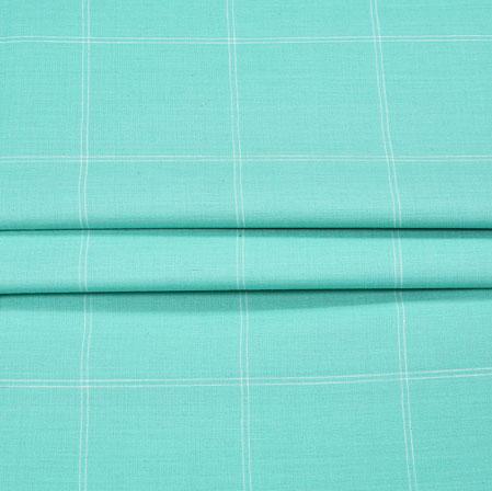 Blue Blue Checks Handloom Fabric-42015