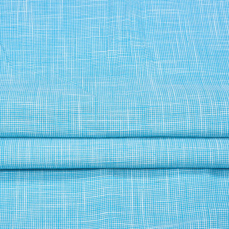 Blue Blue Plain Handloom Fabric-42023