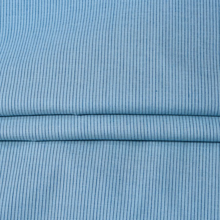 Blue Blue Stripe Handloom Fabric-42028