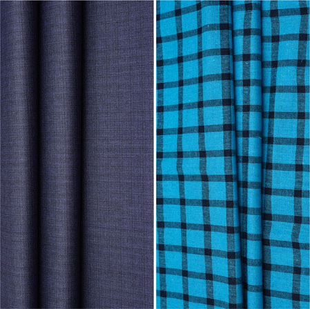 Combo Set Shirt and Trouser-Blue Blue and Black-42124