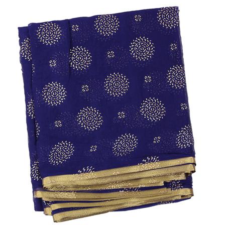 Blue Chiffon Fabric-29050