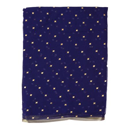 Blue Chiffon Fabric-29075