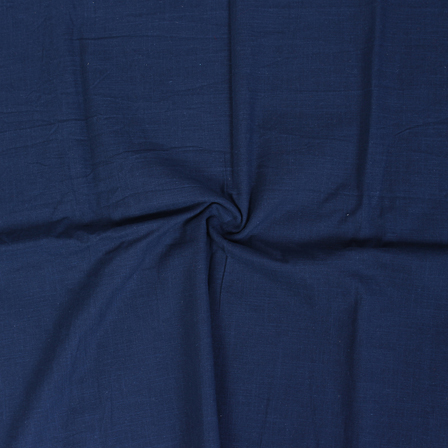 Blue Cotton Slub Dyed Handloom Khadi Fabric-40078