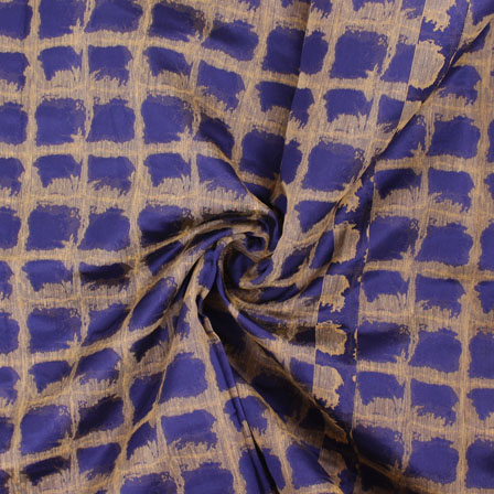 Blue Golden Jacquard Cotton Fabric-9005