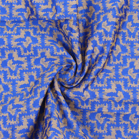 Blue Golden Jacquard Cotton Fabric-9012
