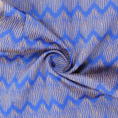 Blue Golden Jacquard Cotton Fabric-9021