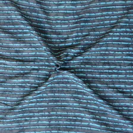 Blue Gray ikat two tone Rayon Fabric-15167