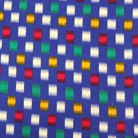 Blue-Green and Yellow Kalamkari Cotton Fabric-10032