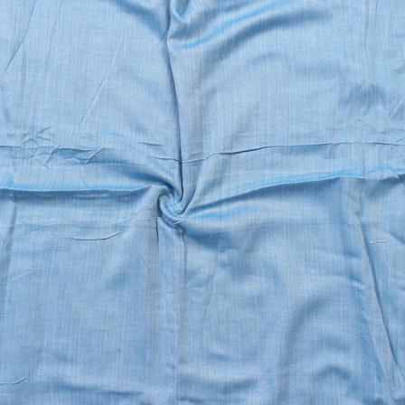Blue Handloom Heaing Bone Cotton Khadi Fabric-40112