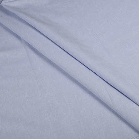 Blue Indian Cotton Linen Shirt Fabric-90065