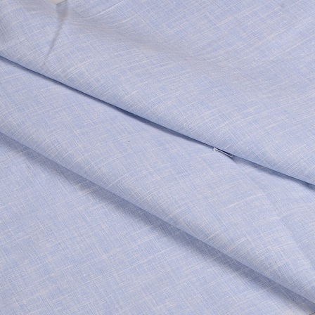 Blue Cotton Linen Shirt Fabric -90048