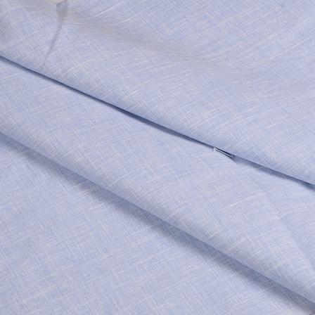 Blue Cotton Linen Shirt Fabric -90048