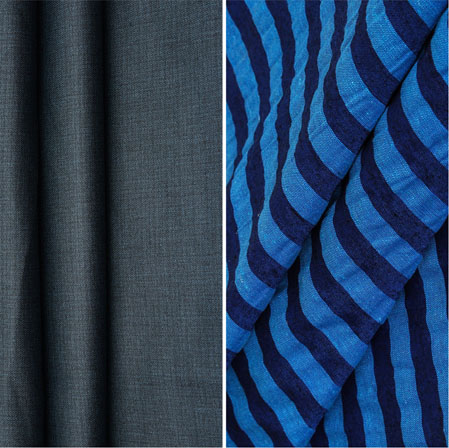 Combo Set Shirt and Trouser-Blue Navy Blue-42263