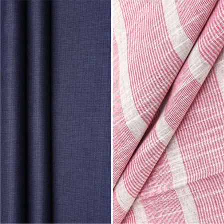 Combo Set Shirt and Trouser-Blue Pink and White-42252