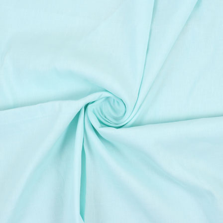Blue Plain Handloom Cotton Fabric-40429