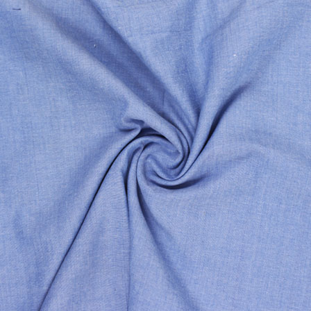 Blue Plain Handloom Khadi Cotton Fabric-40433