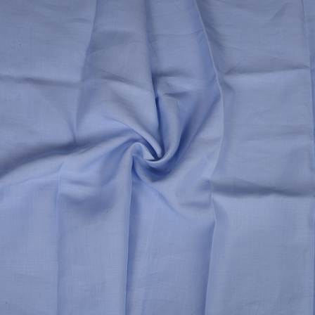 Blue Plain Indian Linen Fabric-90018