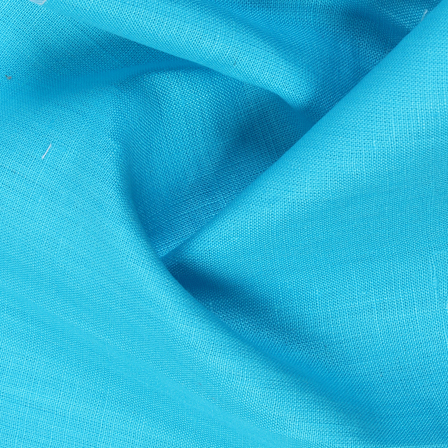 Linen Shirt (1.6 Meter) Fabric- Blue Plain Indian-90035
