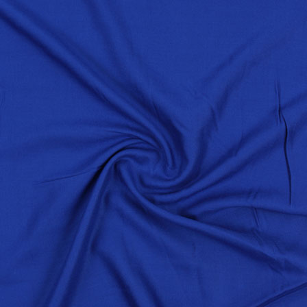 Blue Plain Rayon Fabric-40698