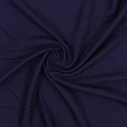 Blue Plain Khadi Rayon Fabric-40705