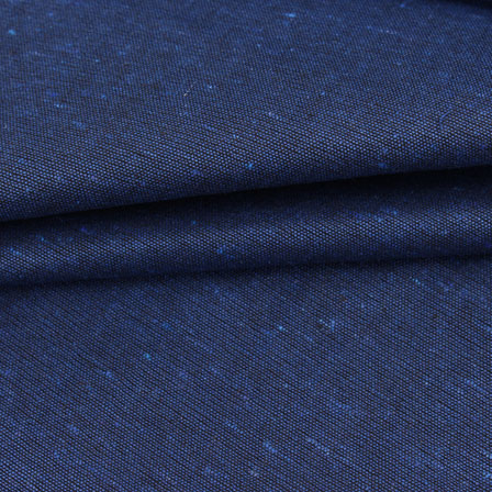 Blue Plain Linen Cotton Fabric-40632