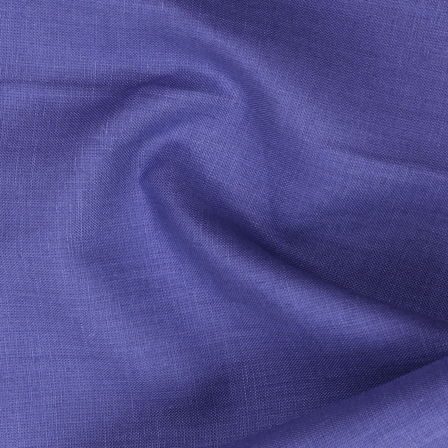 Blue Plain Linen Fabric-SD90037
