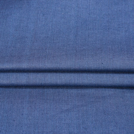 Blue Plain Linen Fabric-90155