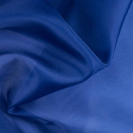 Blue Plain Organza Silk Fabric-51792