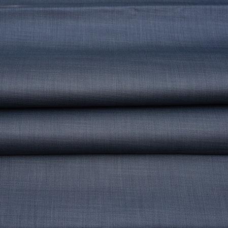 Men Unstitched Trouser (1.2 MTR)-Blue Plain Cotton Wool Fabric-42166