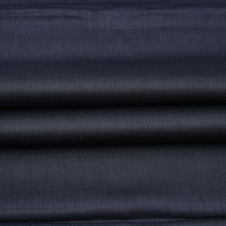 Men Unstitched Trouser (1.2 MTR)-Blue Plain Cotton Wool Fabric-42179