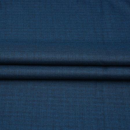 Men Unstitched Trouser (1.2 MTR)-Blue Plain Cotton Wool Fabric-42185