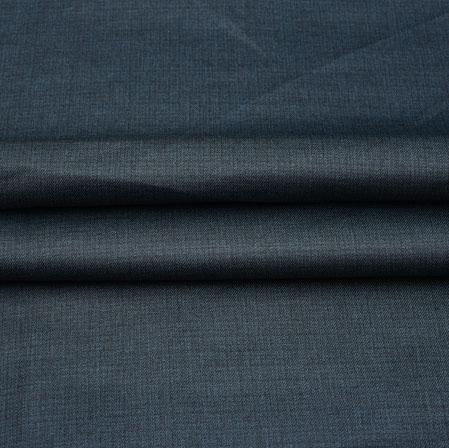 Men Unstitched Trouser (1.2 MTR)-Blue Plain Cotton Wool Fabric-42186