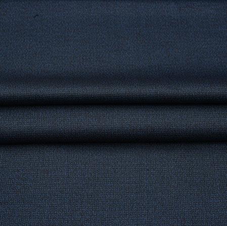 Men Unstitched Trouser (1.2 MTR)-Blue Plain Cotton Wool Fabric-42189
