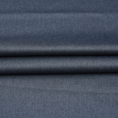 Men Unstitched Trouser (1.2 MTR)-Blue Plain Cotton Wool Fabric-42192