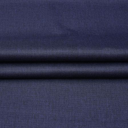 Men Unstitched Trouser (1.2 MTR)-Blue Plain Cotton Wool Fabric-42193