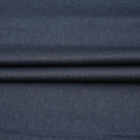 Men Unstitched Trouser (1.2 MTR)-Blue Plain Cotton Wool Fabric-42195